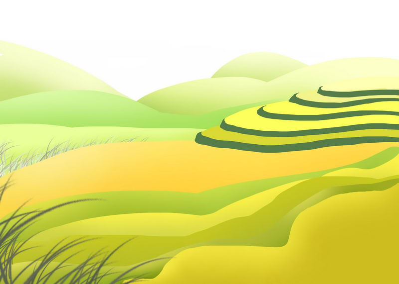 卡通风格乡村梯田田园风光图8208934图片免抠素材 生物自然-第1张