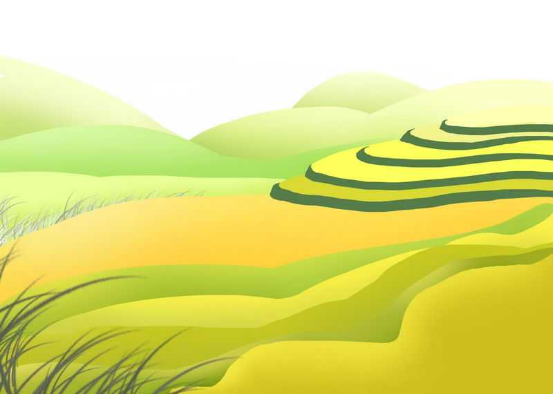 卡通风格乡村梯田田园风光图8208934图片免抠素材