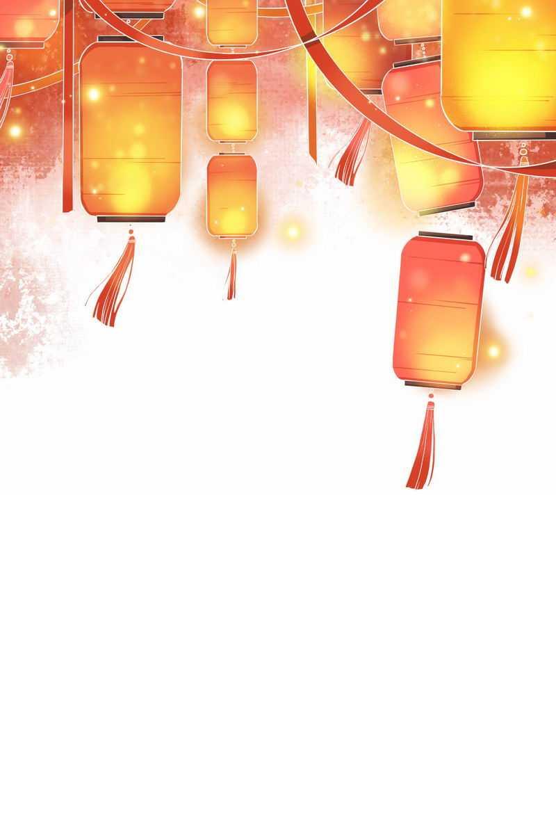 头顶发光的中国传统灯笼装饰6219287图片免抠素材