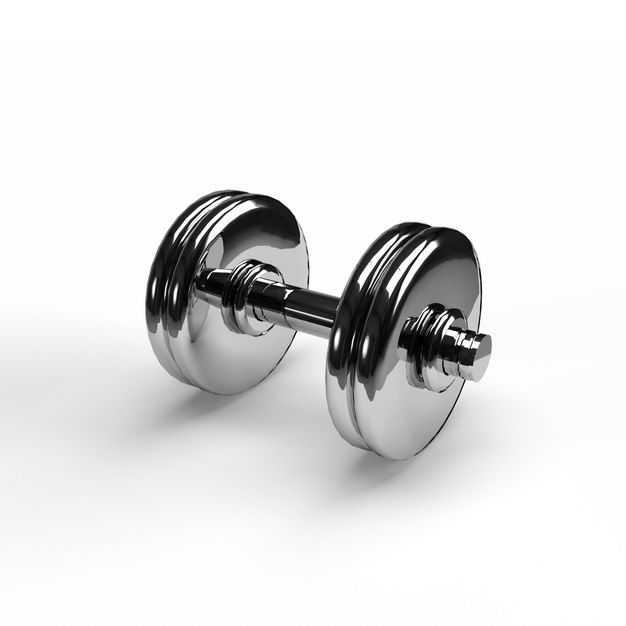 一个不锈钢金属电镀哑铃健身器材6775608免抠图片素材