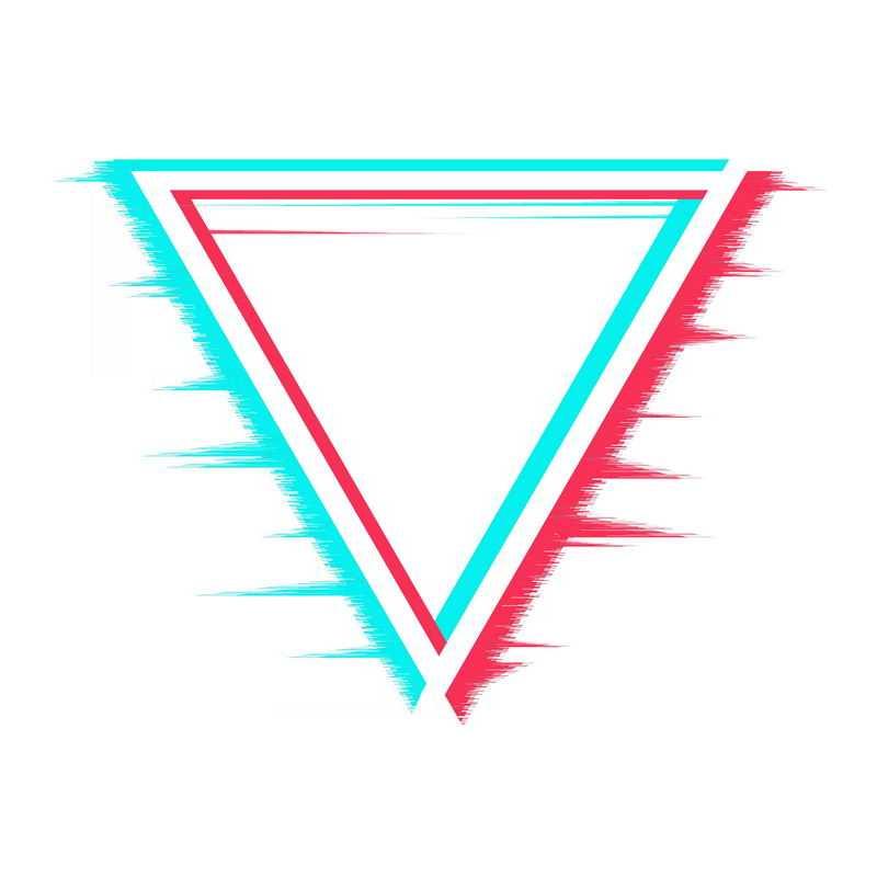 故障风格三角形装饰图案6901116PSD图片免抠素材