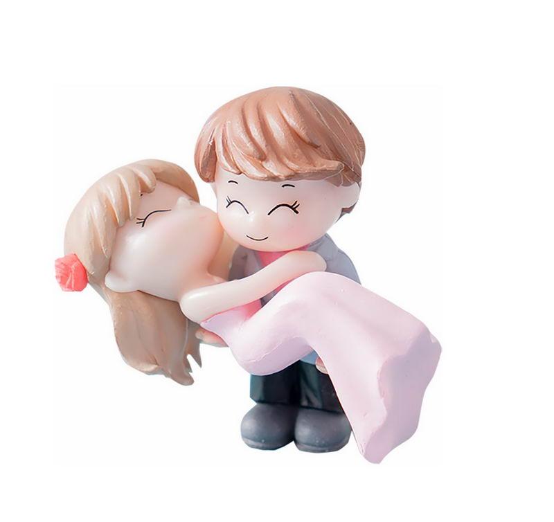 卡通超可爱抱着新娘的新郎玩偶3507213png图片免抠素材