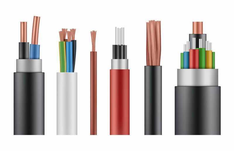 6款电线电缆解剖图结构图3499879图片免抠素材