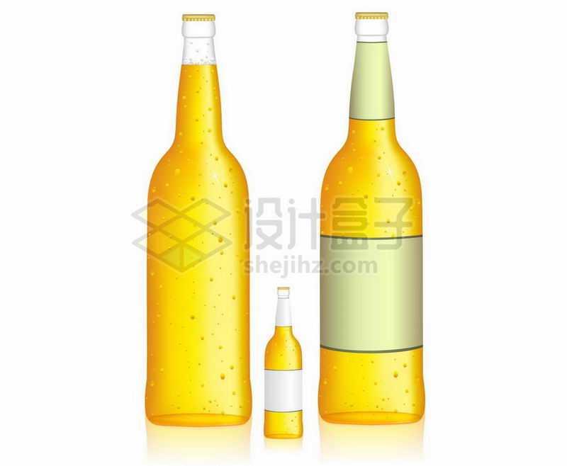 卡通风格黄色瓶子的啤酒1265136矢量图片免抠素材