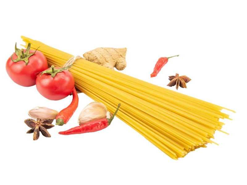 西红柿生姜八角大蒜辣椒和意大利面1153407png图片免抠素材