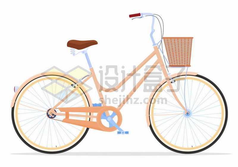 一辆女式自行车侧面图5314692矢量图片免抠素材