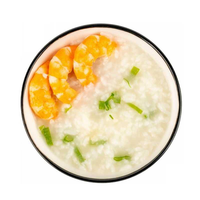 一大碗大虾鲜虾米粥白粥美味美食俯视图9111037png图片免抠素材