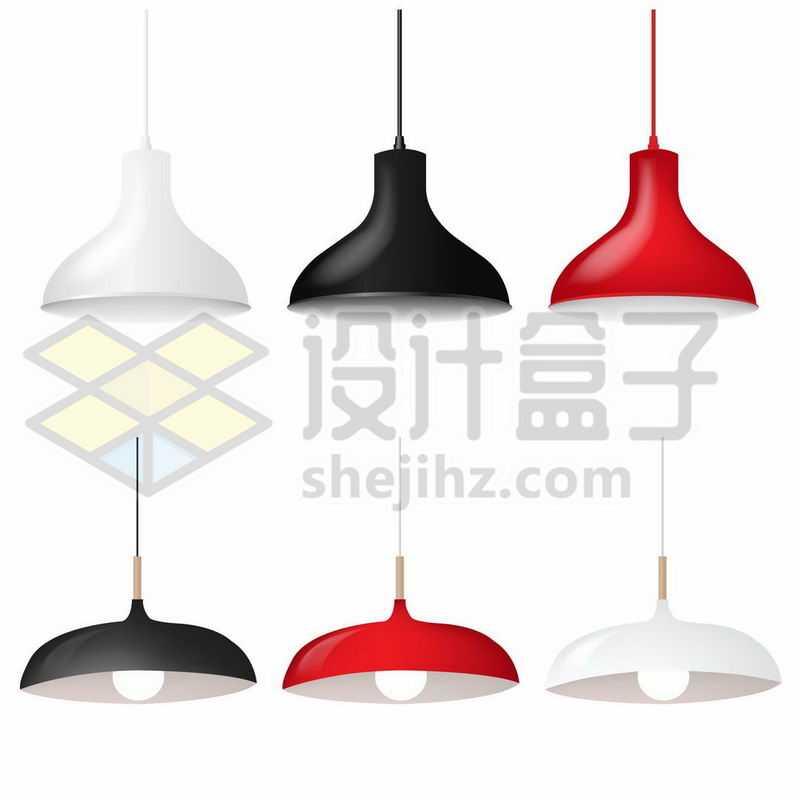 6款简约风格的电灯吊灯1399947矢量图片免抠素材