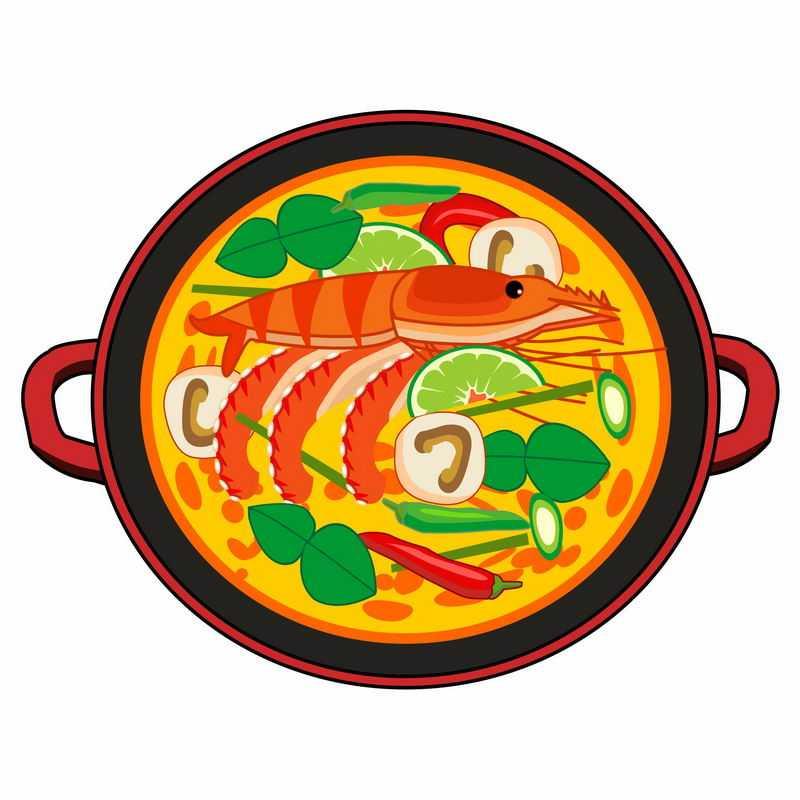 一碗美味的大虾蟹棒海鲜汤美食8972982矢量图片免抠素材