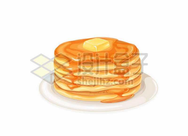 一盘美味松饼西餐快餐5085971矢量图片免抠素材