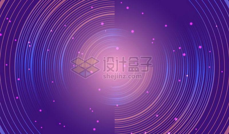 创意蓝紫色星轨圆形线条图案背景图9749766矢量图片素材 背景-第1张
