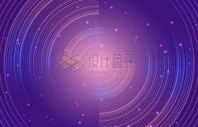 创意蓝紫色星轨圆形线条图案背景图9749766矢量图片素材