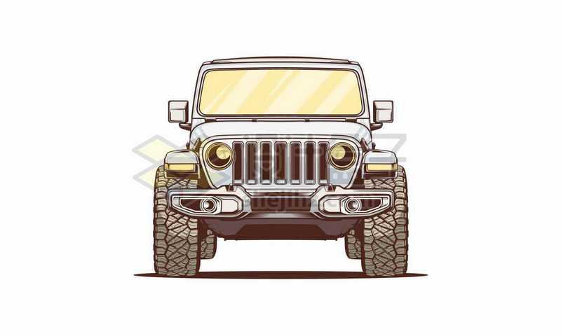 漫画风格的越野车吉普车正面6026290图片免抠素材