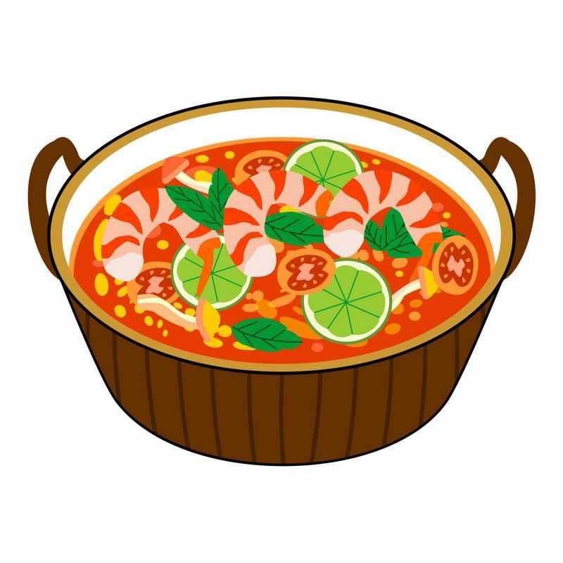 一碗美味的虾仁儿西红柿酸辣汤美食4631196矢量图片免抠素材