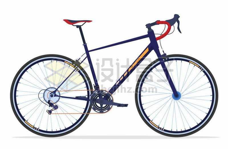 一辆运动自行车变速自行车公路自行车9320567矢量图片免抠素材