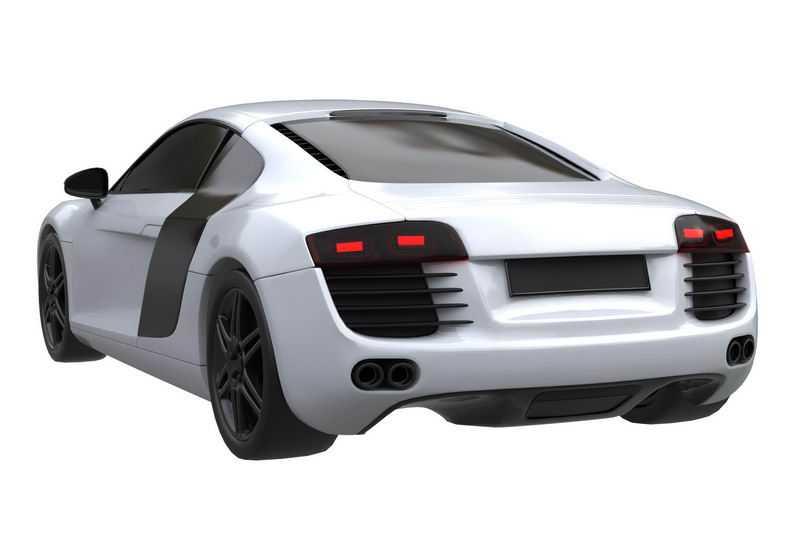 一辆白色的超级跑车模型后视图6052567png图片免抠素材