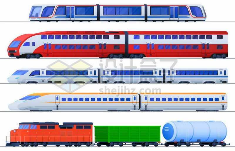 地铁车厢高铁列车货运火车等轨道交通工具9853225矢量图片免抠素材