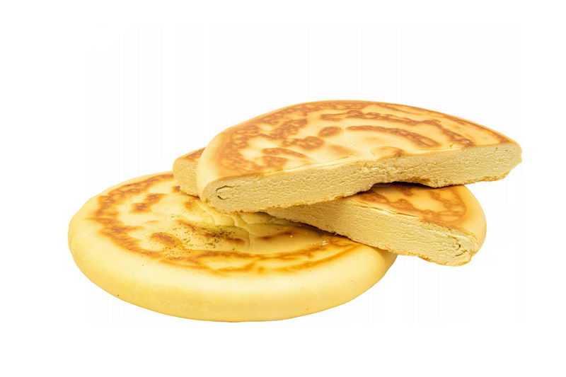 切开的陕西传统小吃美味美食的锅盔饼3422556png图片免抠素材