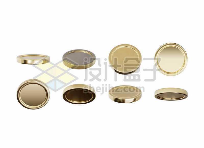 各种不同角度的金币硬币7007824矢量图片免抠素材