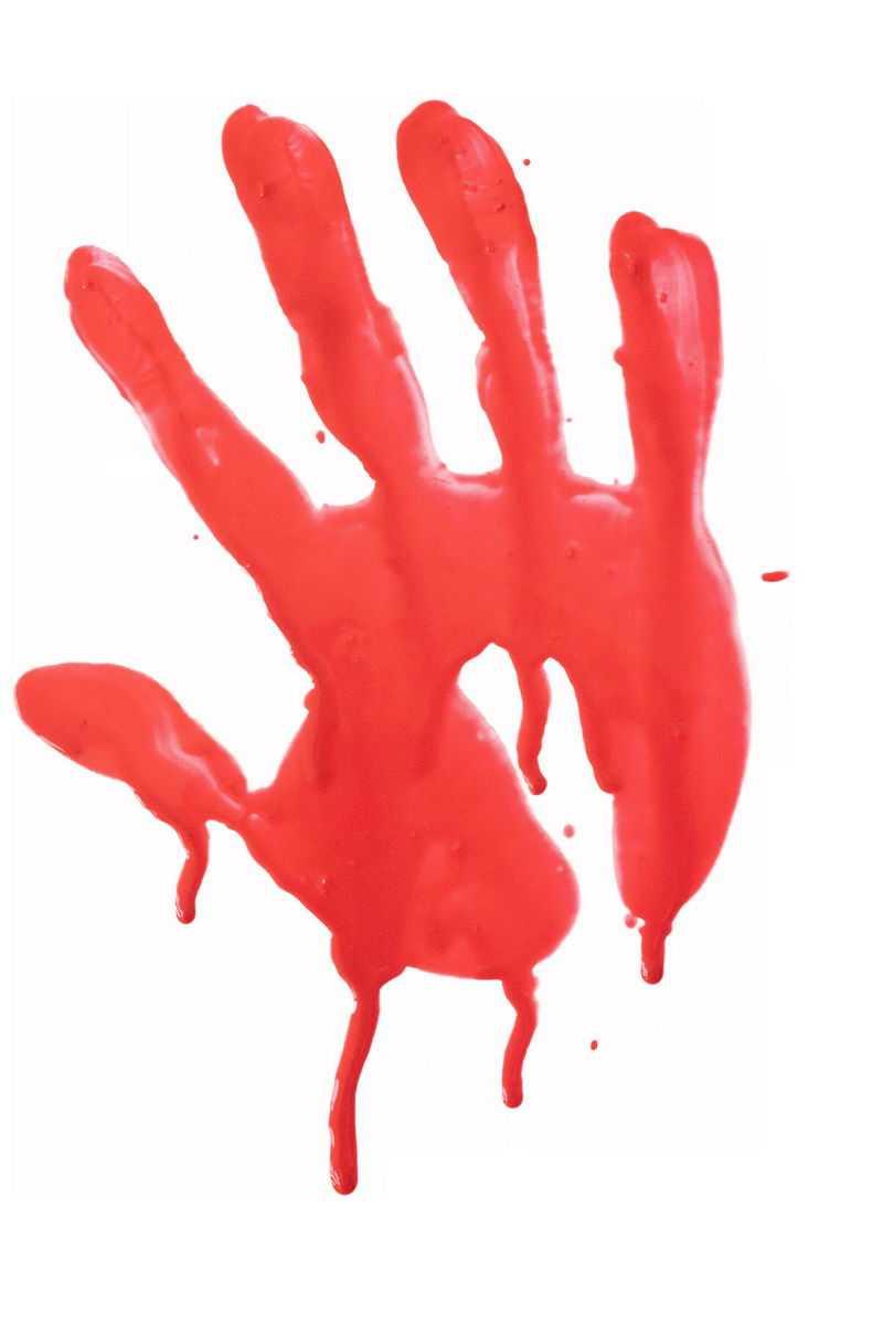 红色的手掌印水彩插画9837198png图片免抠素材