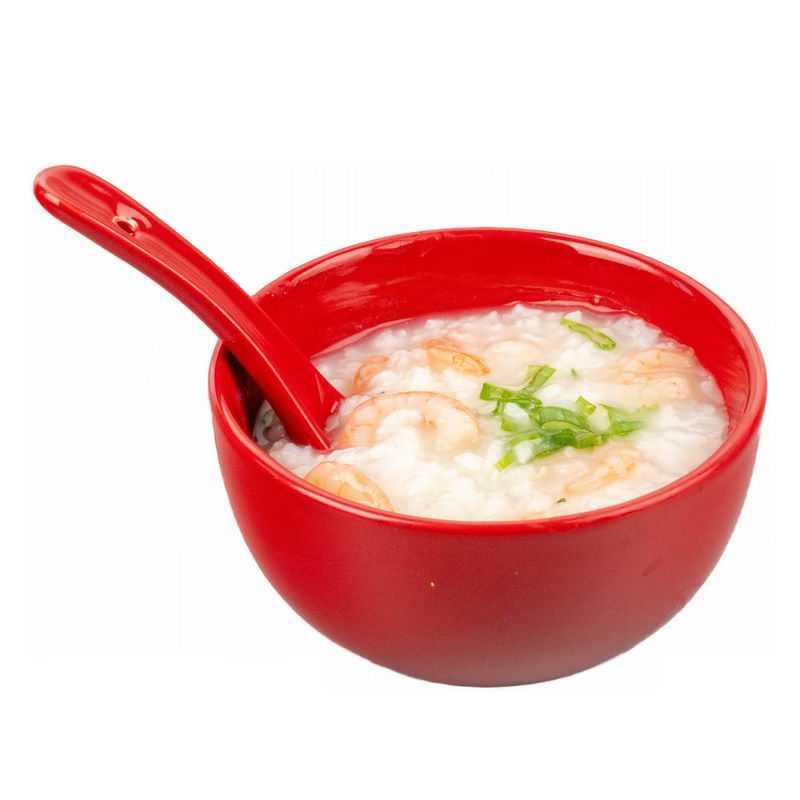 一碗白粥鲜虾粥米粥美味早餐5787388png图片免抠素材
