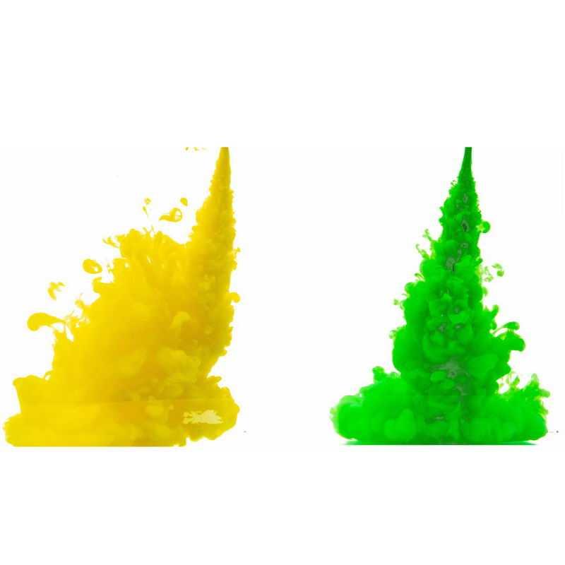 黄色绿色浓烟彩色涂料效果1169287png图片免抠素材