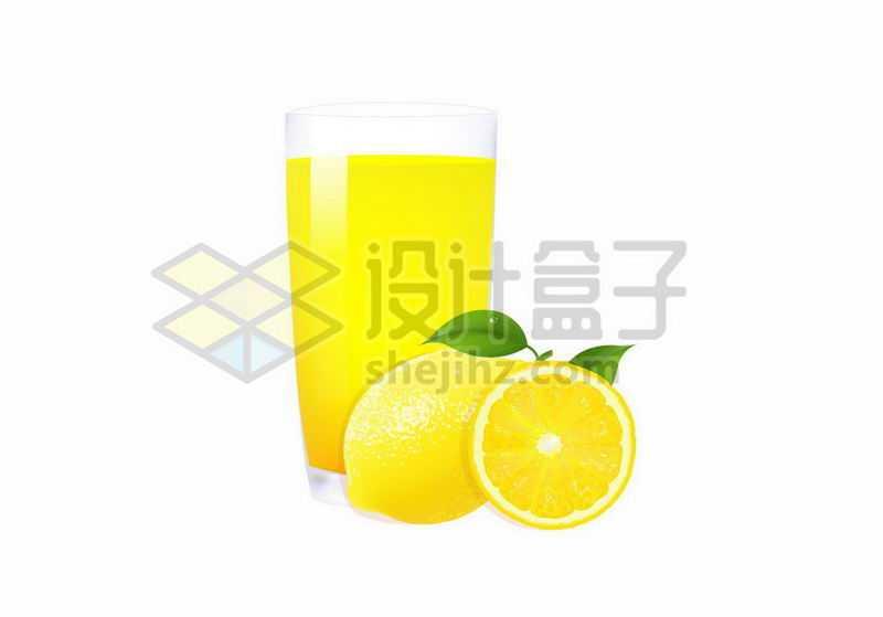 柠檬汁和柠檬美味果汁水果9430076矢量图片免抠素材