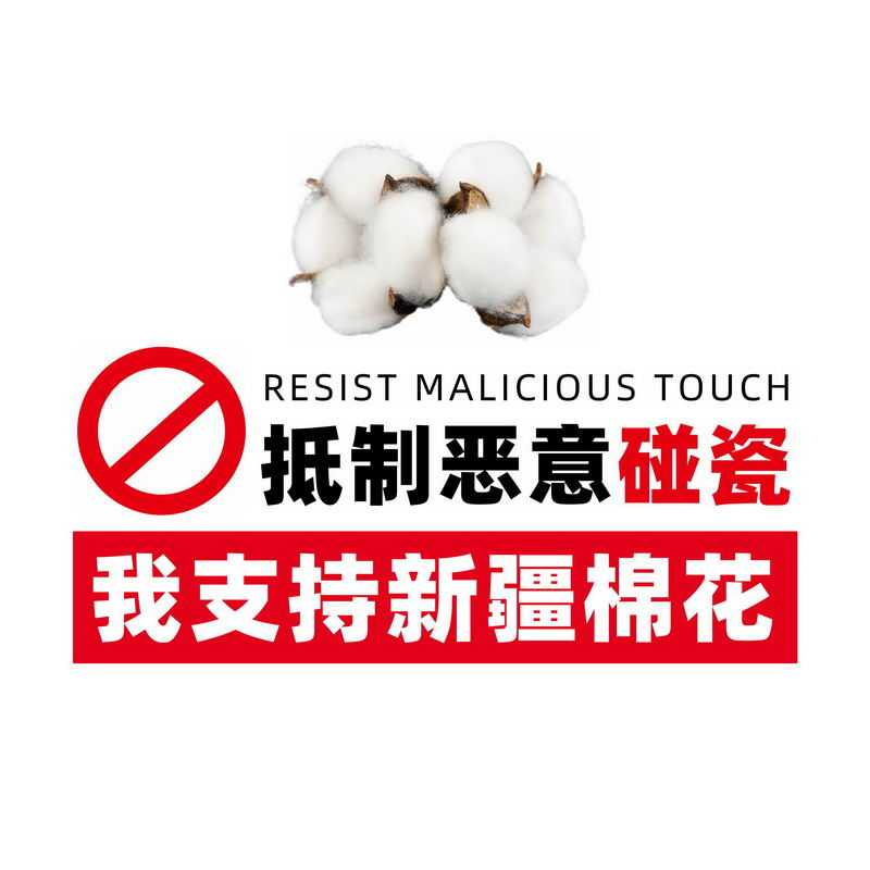 我支持新疆棉花艺术字体标题6318855免抠图片素材
