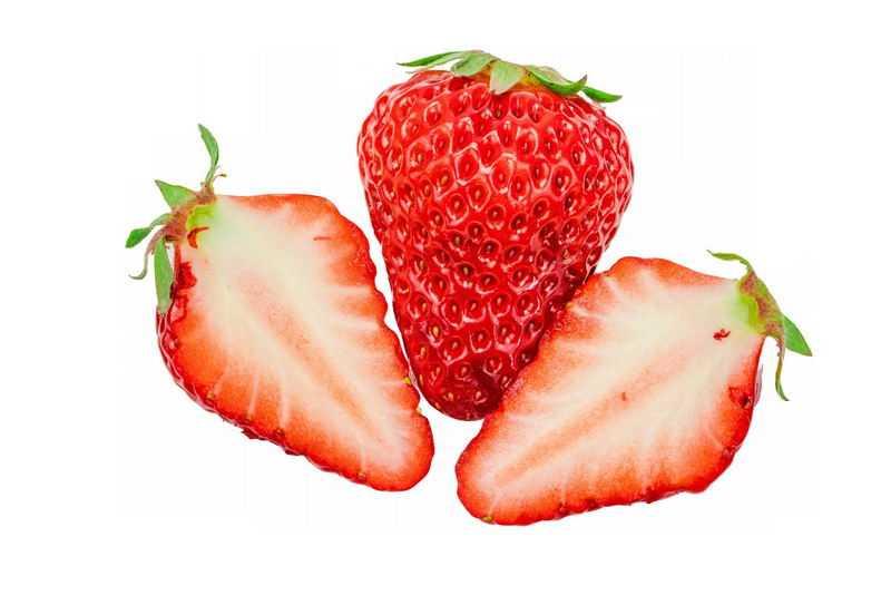 切开的草莓美味水果6965462png图片免抠素材