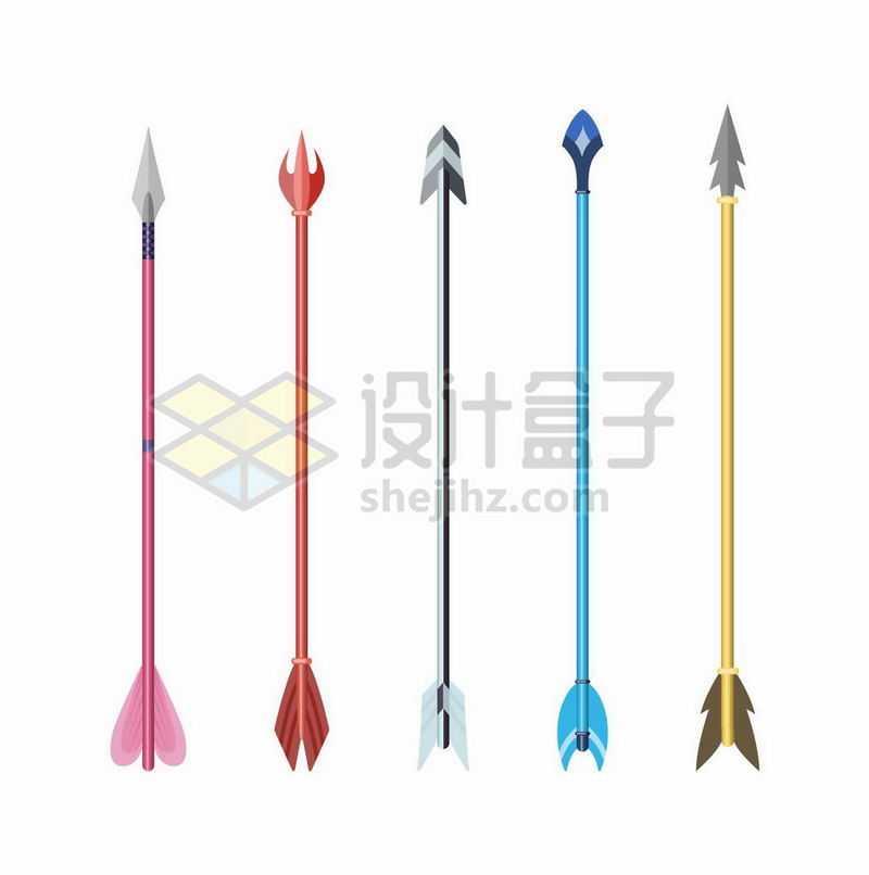 5款各种不同形态的箭8104723矢量图片免抠素材