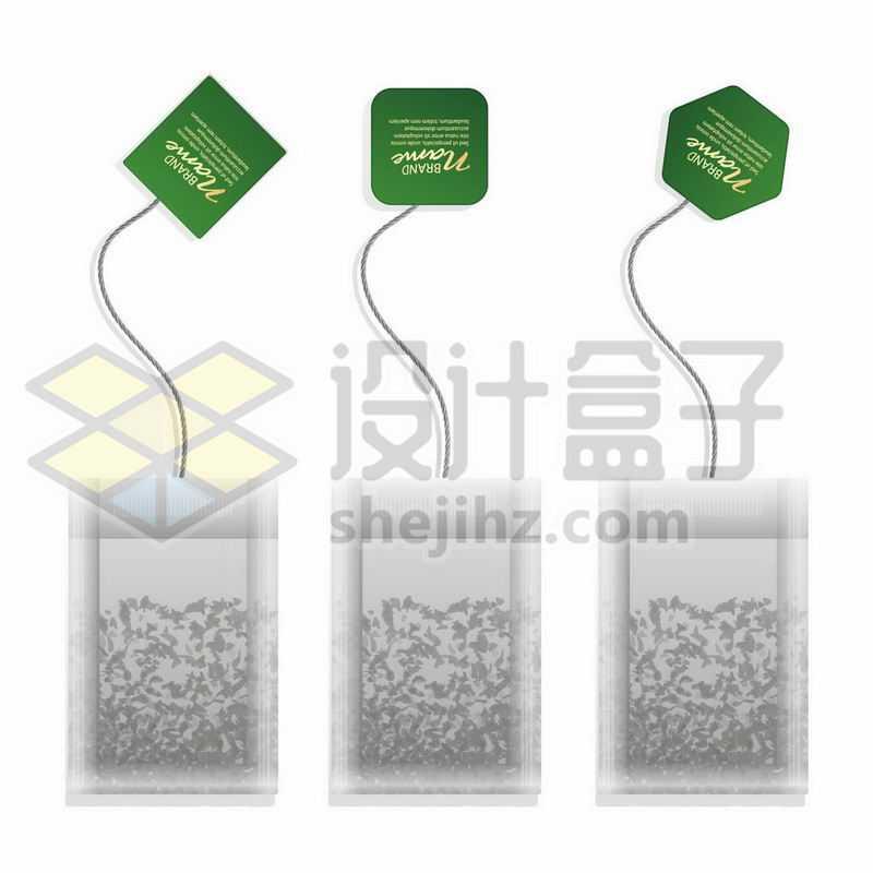 3款袋装茶叶包泡茶袋6663875矢量图片免抠素材