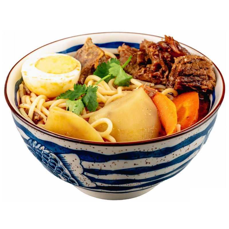 一碗红烧牛肉面加鸡蛋加胡萝卜酱牛肉美味美食7055022png图片免抠素材