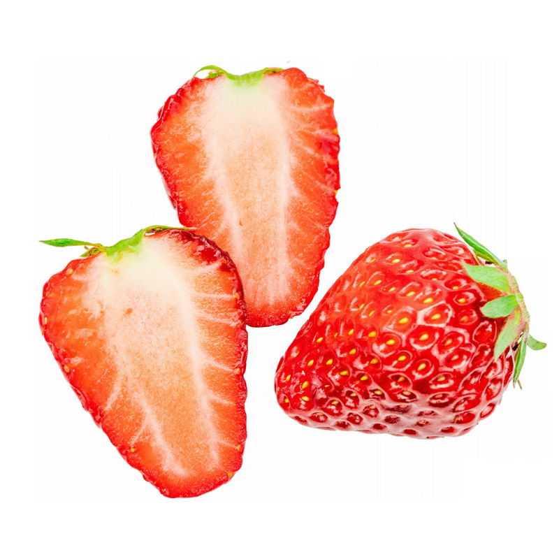 切开的草莓美味水果7851409png图片免抠素材