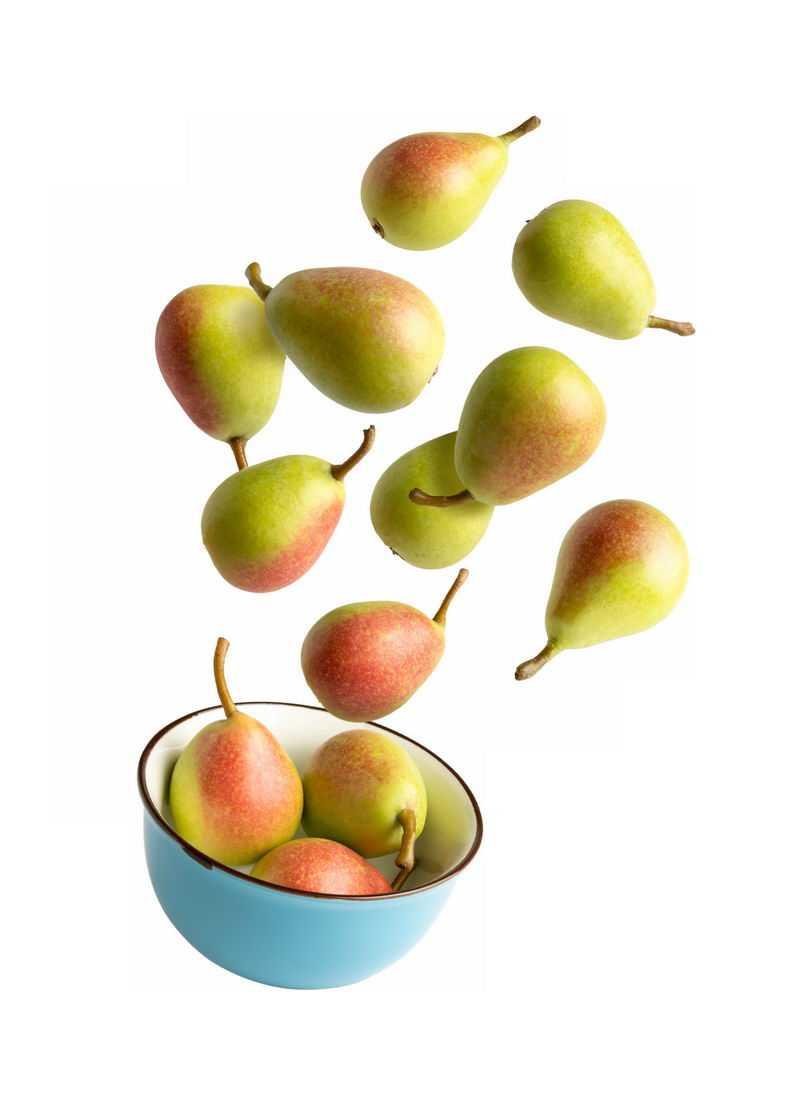 碗中飞起来的西洋梨美味水果9691945免抠图片素材