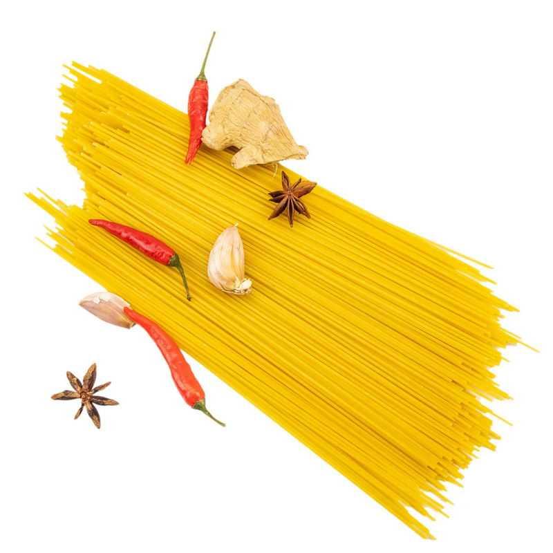 生姜八角大蒜辣椒和意大利面2420298png图片免抠素材