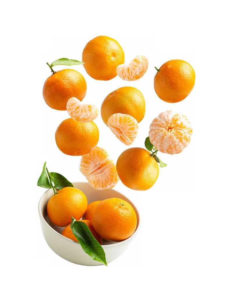 碗中飞起来的橘子沃柑美味水果8483848免抠图片素材