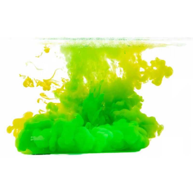 绿色的水中的彩色涂料效果5391386png图片免抠素材