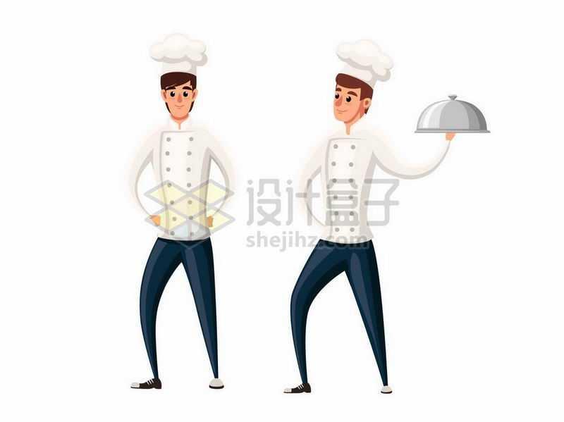 两个卡通西餐大厨厨师4102263矢量图片免抠素材