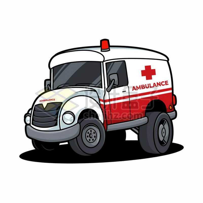 一辆卡通救护车6207218矢量图片免抠素材