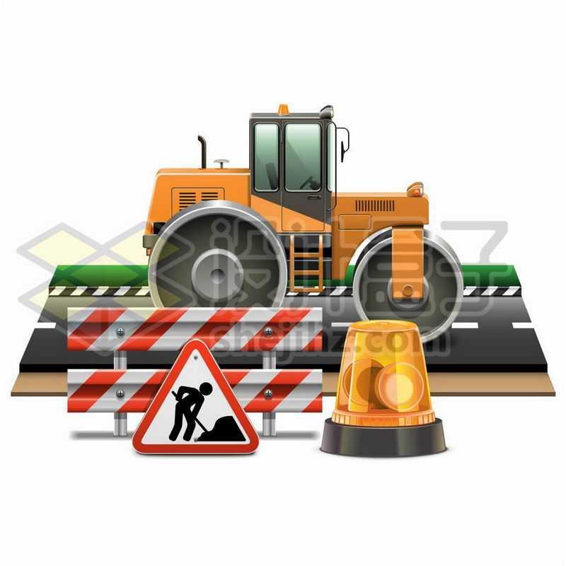 高速公路建设中的压路机6282763矢量图片免抠素材