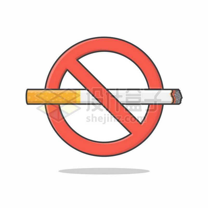 禁止吸烟标志符号7194745矢量图片免抠素材