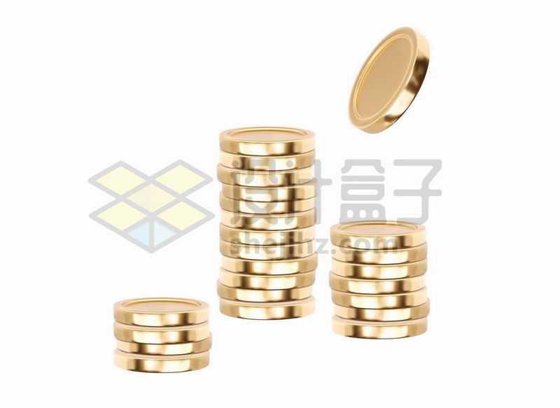 堆在一起的金币硬币8462935矢量图片免抠素材