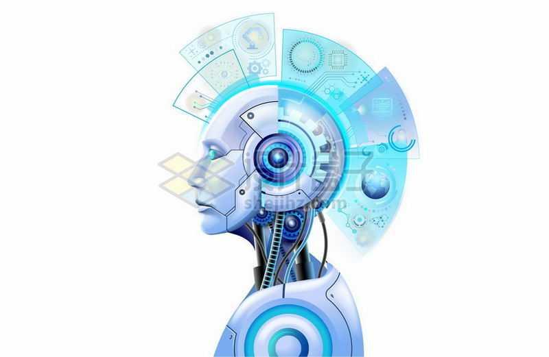 科幻风格人工智能机器人侧面图6567886矢量图片免抠素材