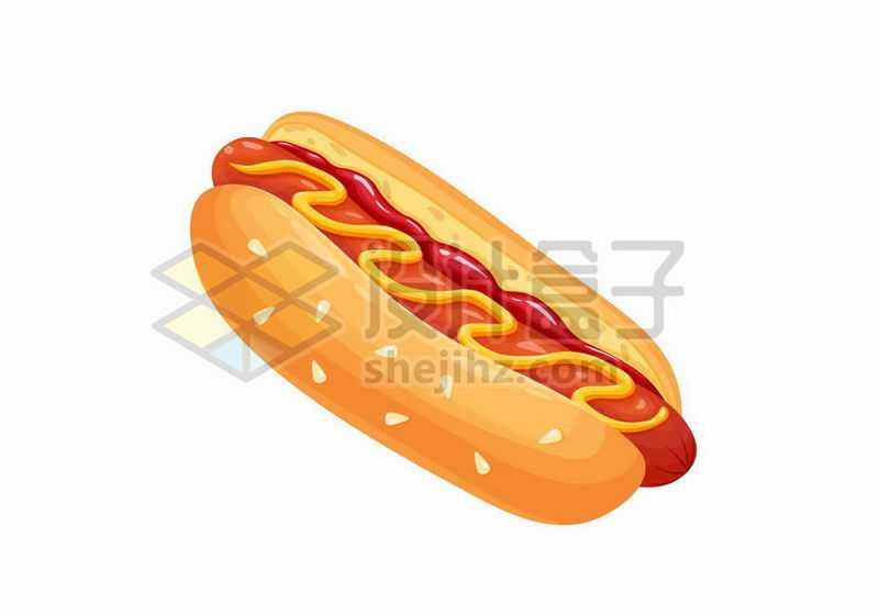 一块热狗美味西餐快餐5560759矢量图片免抠素材