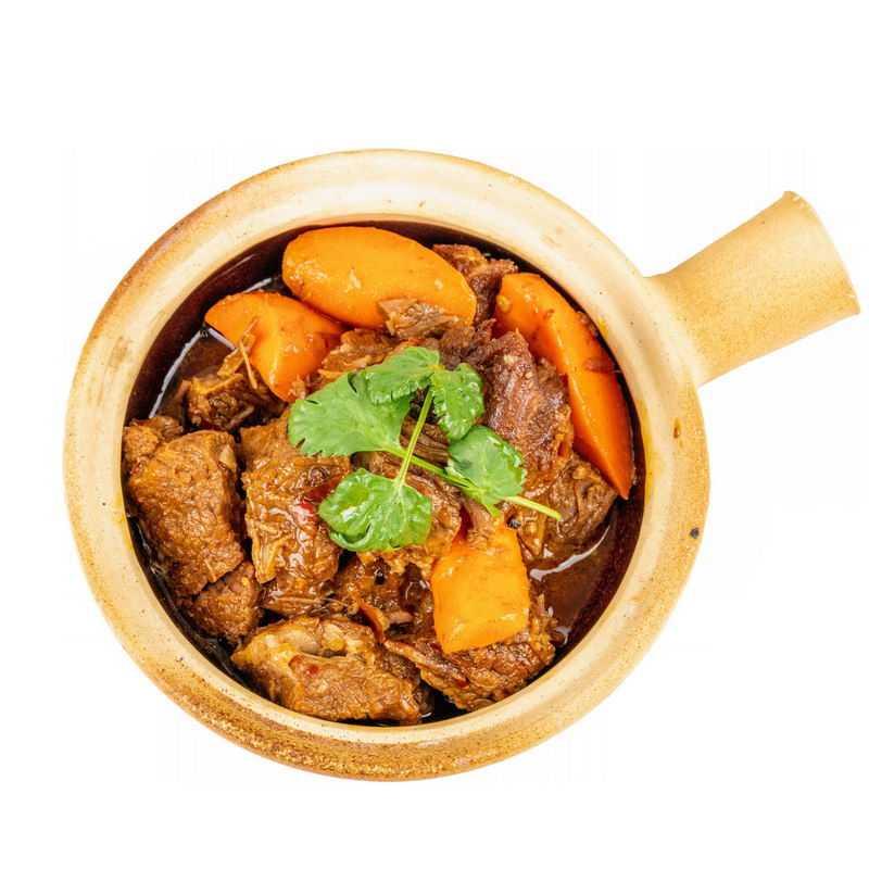 砂锅瓦罐胡萝卜炖牛肉红烧牛肉酱牛肉美味美食8483006png图片免抠素材