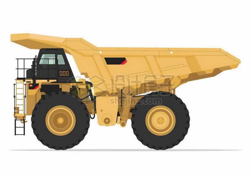 黄色的大型矿车侧面图7189993矢量图片免抠素材