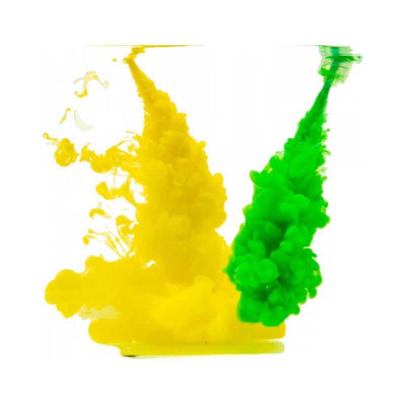 黄色绿色浓烟彩色涂料效果4760999png图片免抠素材