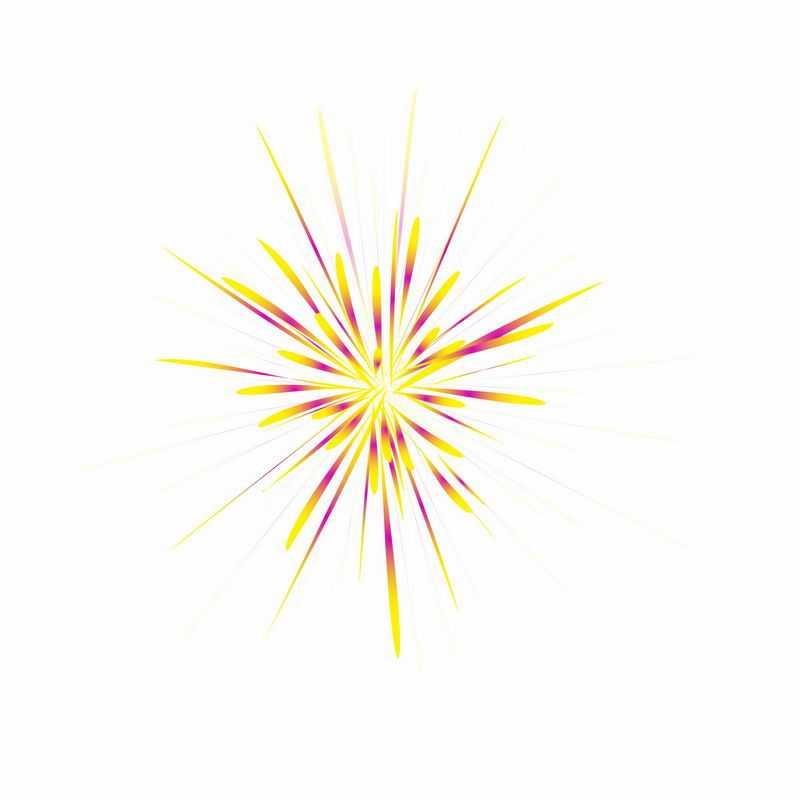 红黄色烟花礼花放射性图案3003816图片免抠素材