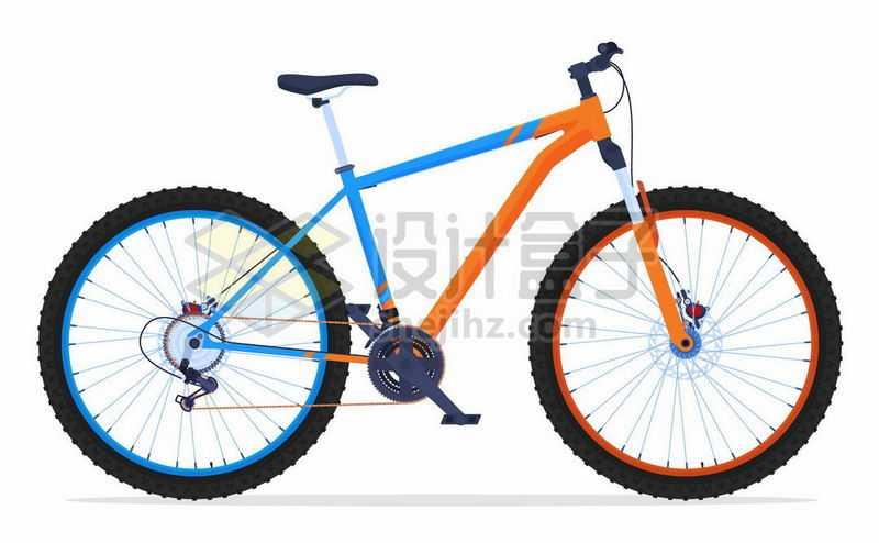 一辆运动自行车变速自行车山地自行车7158047矢量图片免抠素材