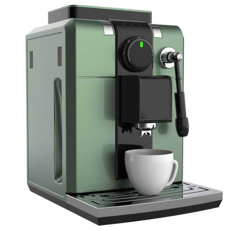 3D立体绿色的咖啡机3676459png图片免抠素材
